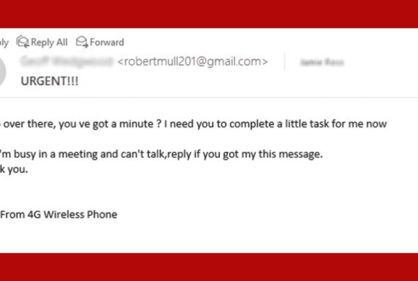 business email compromise example